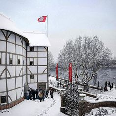 We're dreaming of a white Christmas.Wishing you all the most wonderful time of the year! Image: Pete Le May, Christmas Wishes, White Christmas, Globe Theatre, London Winter, River Thames, Time Of The Year, Summer Of Love, Wonderful Time, Snow Globes