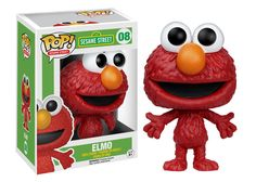 Funko Pop Sesame Street 2 - Elmo Vinyl Figure for sale online Disney Pop, Figurines D'action, Pop Figurine, Sesame Street Characters, Pop Characters, Pop Vinyl Figures, Pop Marvel, Hades, Animatronic Fnaf