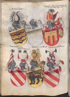 Grünenberg, Konrad: Das Wappenbuch Conrads von Grünenberg, Ritters und Bürgers zu Constanz um 1480 Cgm 145 Folio 173