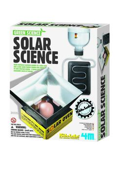 This science kit uses the power of the sun to purify water or cook an egg in a metal foil container. All materials to conduct the experiments are included. Just add eggs. Perfect for young science enthusiasts, especially those with an interest in green energy. Detailed instructions for use and care are included. Recommended for ages 8 years and up.    Solar Science Kit by 4M. Home & Gifts - Gifts - Gifts by Occasion - Baby & Kids Oregon