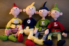 I love these little buddies! Initial Imps Pattern by Alan Dart.