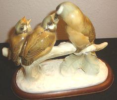 Hutschenreuther Porcelain Bird Group Figurine Mother Feeding Babies Chicks | eBay