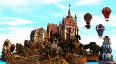 The smoking manor Minecraft Map Minecraft Bridges, Minecraft City Buildings, Minecraft Structures, Minecraft Castle, Minecraft Architecture, How To Play Minecraft, Minecraft Stuff, Minecraft Creations, Minecraft Designs