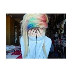 Emo girl My style ❤ liked on Polyvore featuring hair and hairstyles