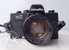 Minolta SRT-Super film camera (black) + 58mm f1.4 Auto-Rokkor PF