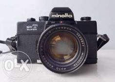 Minolta SRT-Super film camera (black) + 58mm f1.4 Auto-Rokkor PF