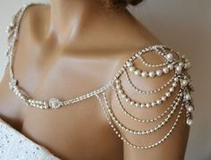 Accesorio de vestido de novia novia charreteras hombro