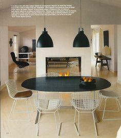 see through fireplace Restaurant Fireplace, See Through Fireplace, Modern Fireplaces, Fire Places, House Renovations, Fireplace Ideas, Living Room Inspiration, Basement Ideas, Apartment Ideas