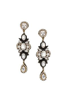 Topshop: Premium Large Stone Drop Earrings
