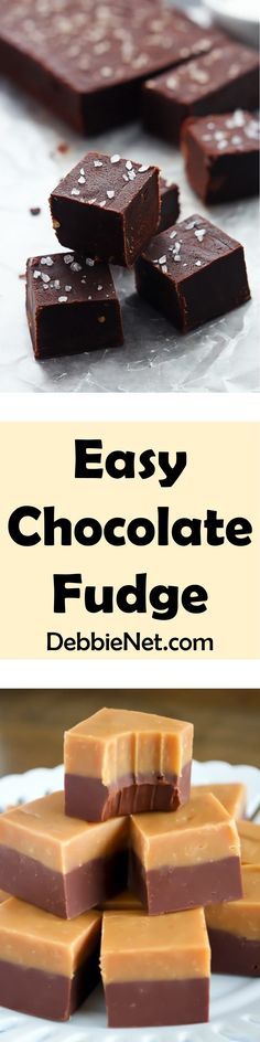 A delectable chocolate fudge that is rich and creamy, but incredibly easy to make. No stove top cooking required, just microwave 1 minute. Easy Chocolate Fudge, Decadent Chocolate, Chocolate Flavors, Childrens Baking, 5 Ingredient Desserts, Creamy Peanut Butter, Fudge Recipes, Delicious Desserts, Microwave