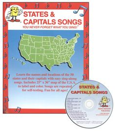 States and Capitals Songs Kit w/ CD | Main photo (Cover)