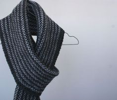 PHOTO IDEAS- hanger (but get a nicer one?) $70 80% wool, 20% acrylic. Hand knit Men's gray Scarf