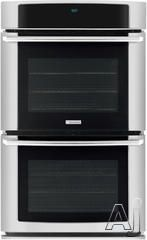 """Electrolux EW30EW65GS 30"""" Double Electric Wall Oven with 4.2 cu. ft. Self-Cleaning Convection Ovens, Wave-Touch Electronic Controls, Meat Probe and Cobalt Blue Interior: Stainless Steel $3000"""