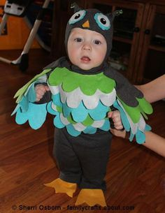 Follow along with this step-by-step tutorial and learn how you can make an adorable owl costume using a sweatsuit.