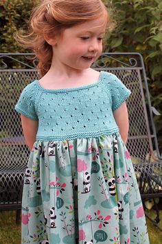 Pattern for Knit and Sew Eyelet Dress - This dress for little girls feature. - Free Knitting Patterns -Free Pattern for Knit and Sew Eyelet Dress - This dress for little girls feature. Baby Knitting Patterns, Free Sewing, Baby Patterns, Knitting Patterns Free, Free Knitting, Dress Patterns, Pattern Dress, Pattern Sewing, Smocking Patterns