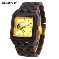 BEWELL Male Watch Wooden Brand Designer Luxury Wood Quartz Wristwatch with Gift Box Men Square Watches for Your Family Price history. Wooden Watch, Watches For Men, Men's Watches, Square Watch, Red Purple, Casio Watch, Special Gifts, Branding Design, Mens Fashion