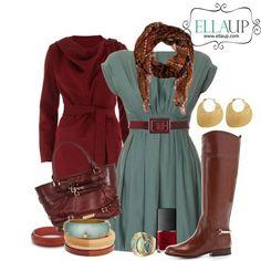 Vejam que ideia legal de look para o Outono! A combinação de vestido com casaco enfrenta bem as oscilações de temperatura da estação e, de quebra, ainda traz o burgundy - mais uma das super trends na cartela de cores da temporada! #inspire-se