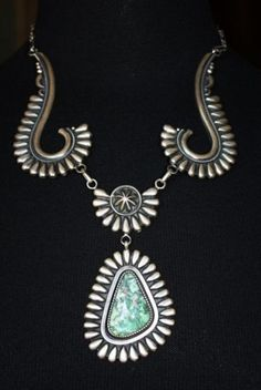 One of a Kind Navajo Turquoise Necklace by R. Bennett - available at Cowgirl Kim