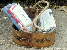 2 drawers repurposed into a basket