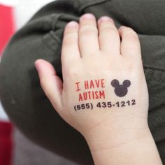 Child Emergency Contact Number, Write-on, Temporary Tattoos Dad Daughter Tattoo, Tattoo For Son, Tattoos For Daughters, Sons Name Tattoos, Dad Tattoos, Autism Awareness Tattoo, Autism Tattoos, Autistic Toddler, Autistic Children