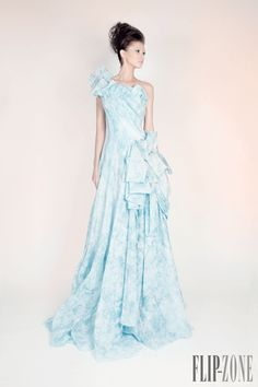 "Rami Kadi ""Les jardins suspendus"", S/S 2013 - Couture - http://www.flip-zone.com/rami-kadi-3834 - Silk Organza Draped Gown"