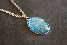 Revlon Blue Mosaic Nail Polish Necklace by FireInTheSkye, $10.00