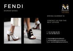 FENDI is all about striking Italian craftsmanship. Order SS'16 women shoe collection at Myriam Volterra - The Italian Buying Office for Fashion & Luxury We guarantee you a professional service and provide you with all the essentials to complete a successful trade! luxuryitalianbrands.com