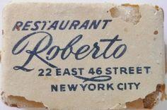 RESTAURANT ROBERTO NEW YORK N.Y. by ussiwojima, via Flickr