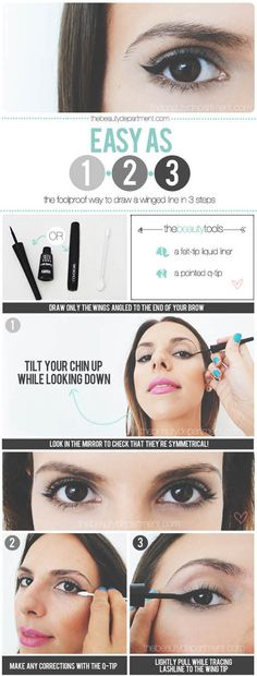 Cat Eye Tutorial |Eyeliner Tips and Tricks by Makeup Tutorials at http://makeuptutorials.com/makeup-tutorials-beauty-tips