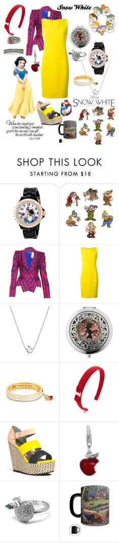 """""""'Someday I'll find my love, someone to call my own'"""" by lennyroo ❤ liked on Polyvore featuring eWatchFactory, Disney, Alexander McQueen, Akris, Disney Couture, Salvatore Ferragamo, JustFab, BillyTheTree and Pasquale Bruni"""