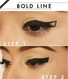 Dare to go BOLD with thick some winged eyeliner! This look will make your eyes stand out in a seriously sexy way. Only 2 steps to learn how to do this simple makeup look!
