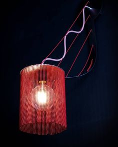 Dancing Lights!  Our new Langarm sconce is a sassy and striking addition to your home - small enough to fit into any space, but bold enough to make a statement!  With its projected arm reminiscent of a suspension bridge, this dramatic piece is enhanced by the use of red chain, reflecting bold colour when illuminated.  Visit the link in the bio for more information.  #willowlamp #newdesigns #wallmountedlamps #interiordesign Lighting Ideas, Lighting Design, Wall Mounted Lamps, Suspension Bridge, Light Installation, Pendant Lamp, Bold Colors, Instagram Feed, Sassy