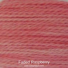 A ColourSpun Pure Cotton yarn and embroidery thread colour swatch. This colour is called Faded Raspberry and is available on all our cotton bases. #colourspun #cotton #colourinspiration #yarncolours Colour Swatches, Super Chunky Yarn, Coming Up Roses, Fabric Yarn, Embroidery Thread, Color Inspiration, Fabric Design, Weaving, Colours