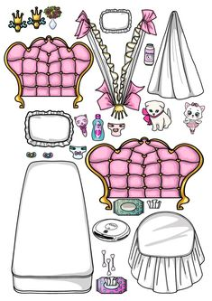 Paper Dolls Book, Paper Toys, Lol Dolls, Cute Dolls, Diy Paper, Paper Crafts, Broken Doll, Cute Easy Drawings, Doll Home