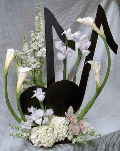 Funeral Arrangement Music Note | flower arrangements by ...