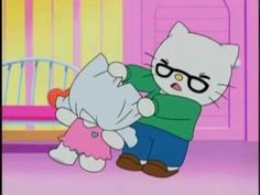 """""""Changing Our Clothes"""" Hello Kitty cartoon snippet Hello Kitty Cartoon, Hello Kitty Characters, Sanrio Characters, Sanrio Hello Kitty, Cartoon Photo, Cartoon Pics, Cute Cartoon, Dumb Pictures, Hello Kitty House"""