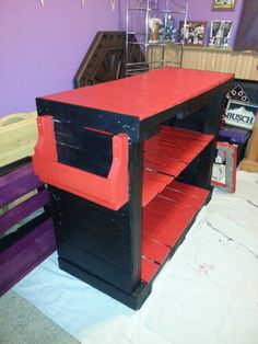 Kitchen Island Out Of Pallets bar made out of pallet boards   [ dream house ]   pinterest