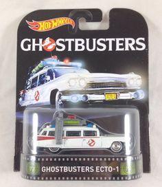 Hot Wheels Ghostbusters Ecto-1 White Metallic 2016 A Case HW Retro Entertainment #HotWheels #Ghostbusters