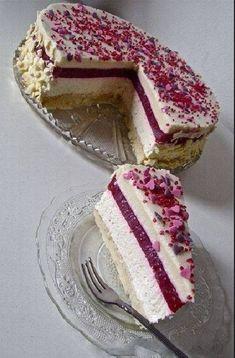 Healthy Cake Recipes, Fruit Recipes, Sweet Recipes, Baking Recipes, Dessert Recipes, Jednostavne Torte, Nougat Torte, Torte Recepti, Kolaci I Torte