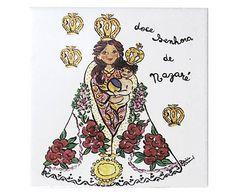 Azulejo Nossa Senhora de Nazaré Santeiro - 10x10cm                                                                                                                                                                                 Mais