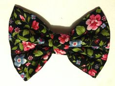 Cute Handmade Floral Fabric Hair Bow Clip flowers on Etsy, $7.50