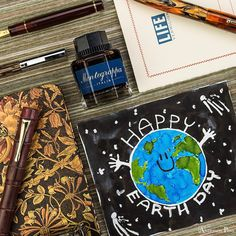 """235 Likes, 13 Comments - Anderson Pens (@andersonpens) on Instagram: """"Midweek Mojo - Earth Day! We have pens to keep track of your earth-loving resolutions, inks to…"""""""