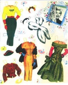 1954 Dinah Shore paper doll clothes / eBay