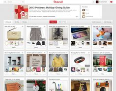 Pinterest 2013 Gift Guide | Collection of boards with gift ideas categorized for every type of person.