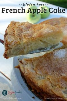 gluten free recipes Gluten Free French Apple Cake has a rich custardy bottom, a light cake layer and a crisp sugary topping. Served warm, at room temp, with or without ice cream or whipped cream, this is one elegant dessert you will make often. Gluten Free Deserts, Gluten Free Sweets, Gluten Free Cakes, Foods With Gluten, Gluten Free Cooking, Dairy Free Recipes, Gluten Free Apple Cake, Gluten Free Ice Cream Cake, Ice Cream Cakes