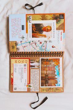 Travel Journal Scrapbook, My Scrapbook, Planners, Memory Journal, Bullet Journal Writing, Photo Album Scrapbooking, Bullet Journal Inspiration, Journal Ideas, Cool Notebooks