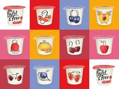 Danone - Light & Free on Packaging of the World - Creative Package Design Gallery