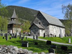 The old church of Åre in Jämtland. Oldest parts of the church dates back to the late 12th century.