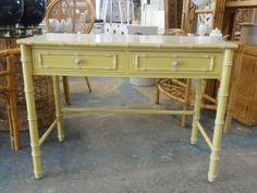 Petite Faux Bamboo Writing Desk