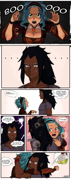 Gajeel is secretly a softie and nobody will be telling me otherwise. Ever.: